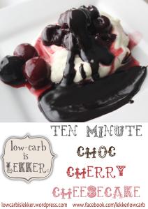 Watermark - 10 minute choc-cherry cheesecake