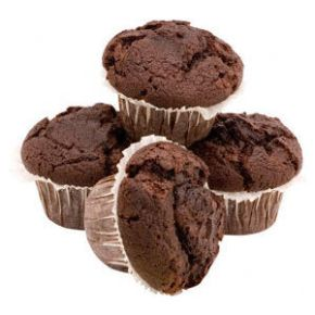 Chocolate orange muffins:  how to de-carb a standard recipe