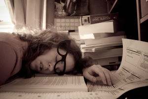 Exhaustion - a common symptom of high blood sugars.
