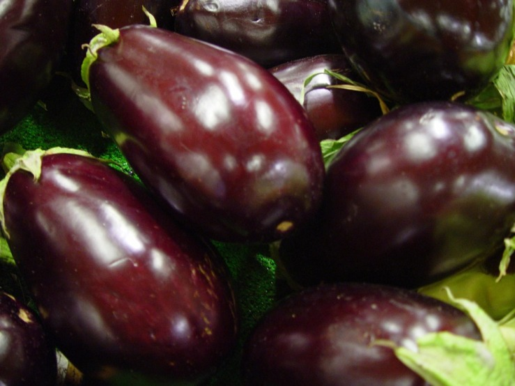 a picture of aubergines on the Diabetes Diet