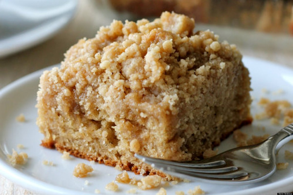 Coffee Cake With Creamc Cheese Filling And Crumb Topping