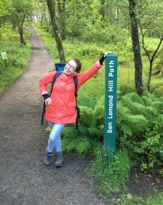 Emma Baird  at the start of Ben Lomond